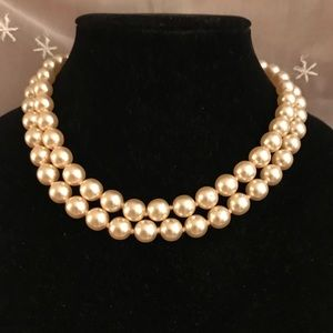 Beautiful vintage double strand of faux pearls